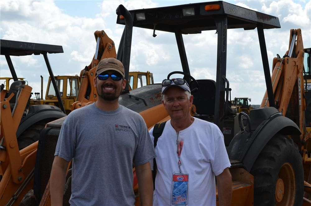 Excel Machinery sales representatives Clay Stallings (L) and David Timmins traveled from Amarillo, Texas, to the sale.