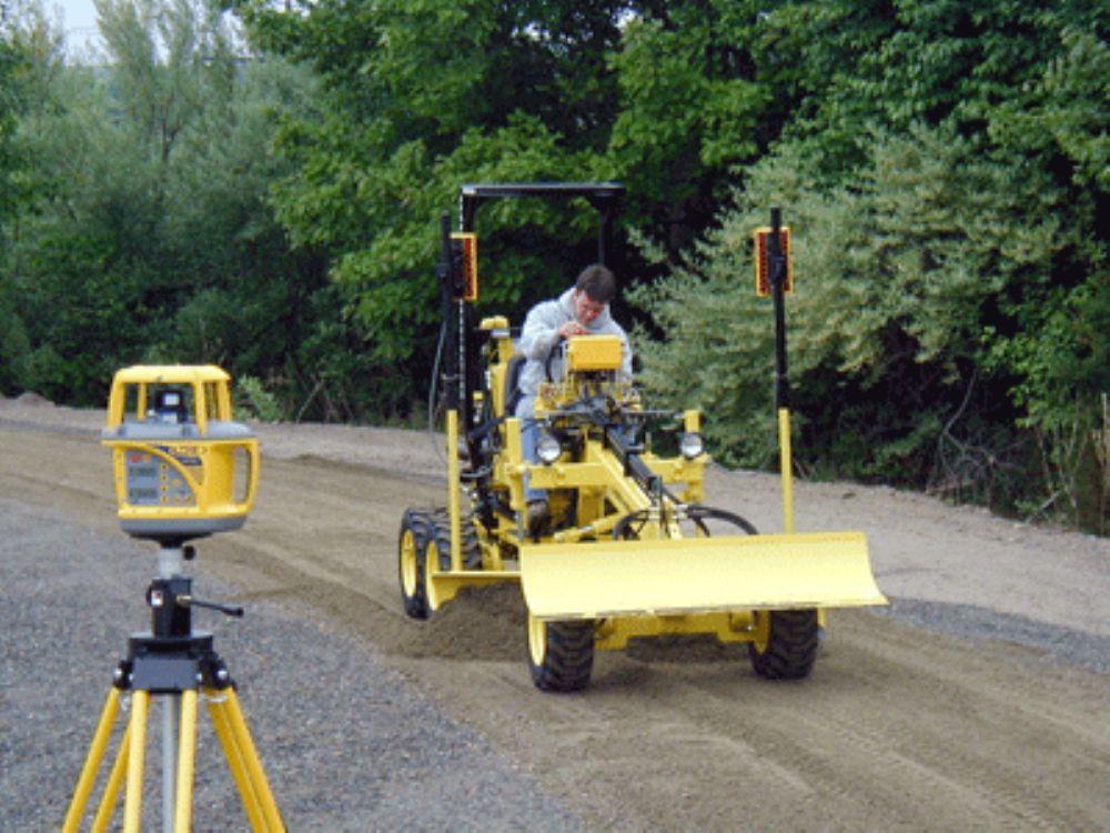 Laser Grader Provides More Precision Maneuverability For