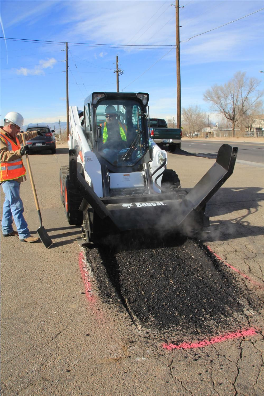 The asphalt preservation tools system consists of an infrared asphalt heater and an asphalt processor that is compatible with 12 approved Bobcat all-wheel steer loaders, skid steer loaders and track loaders.