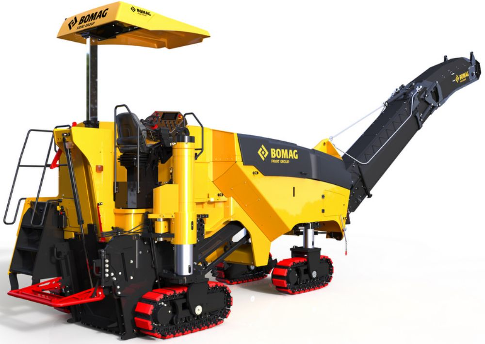 The Bomag BM1200/35 offers three milling drum speeds — 85, 95 and 107 rpm — to match cutting speed to jobsite conditions.