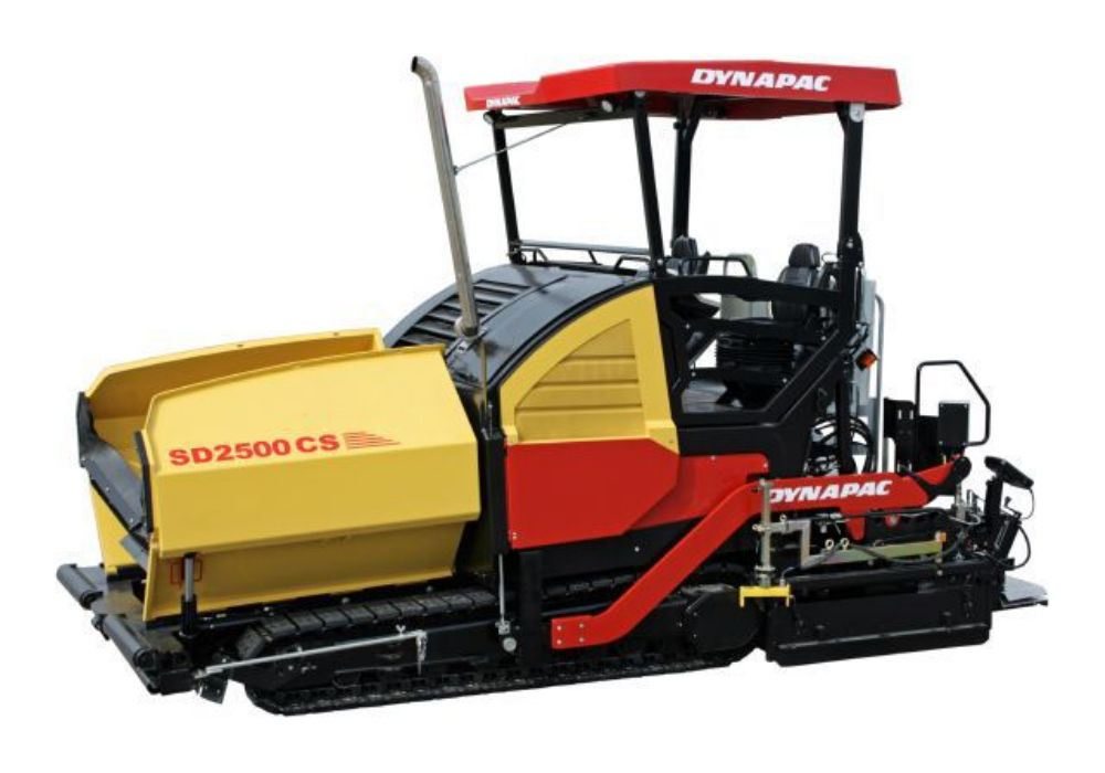 The upgraded Dynapac SD2500CS asphalt paver.