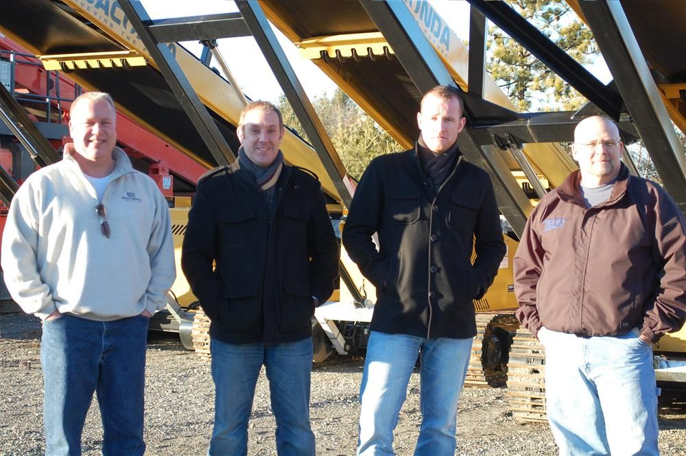 (L-R) are Gordon Terry, general manager of Anaconda USA; Eamon McMahon, president of Anaconda USA; Alistair Forsyth, managing director of Anaconda Equipment International Ltd.; and Sam Harbin, product line manager of Anaconda USA.