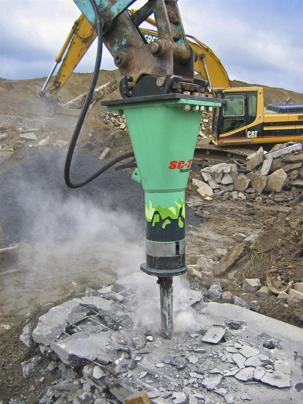 Montabert offers eight SC-Series hydraulic breaker models ranging in size from 198 to 1,098 lbs. (90 to 498 kg).
