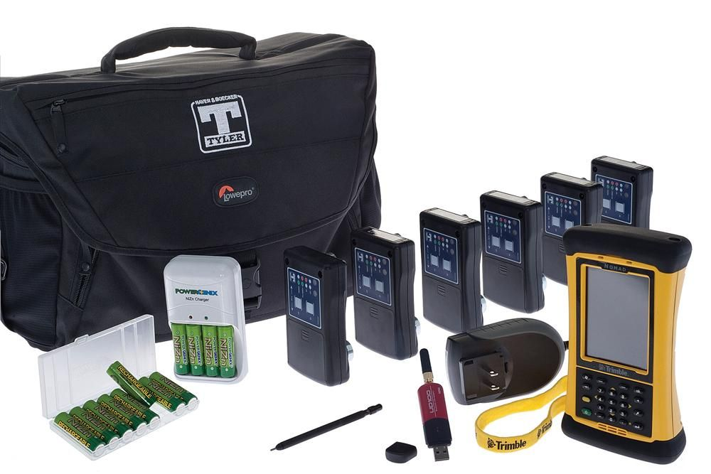 W.S. Tyler provides the complete vibration analysis technology kit, consisting of eight wireless Bluetooth accelerometers that are attached to the outside of the vibrating screen to take readings at intervals determined by the customer, a hand-held data c