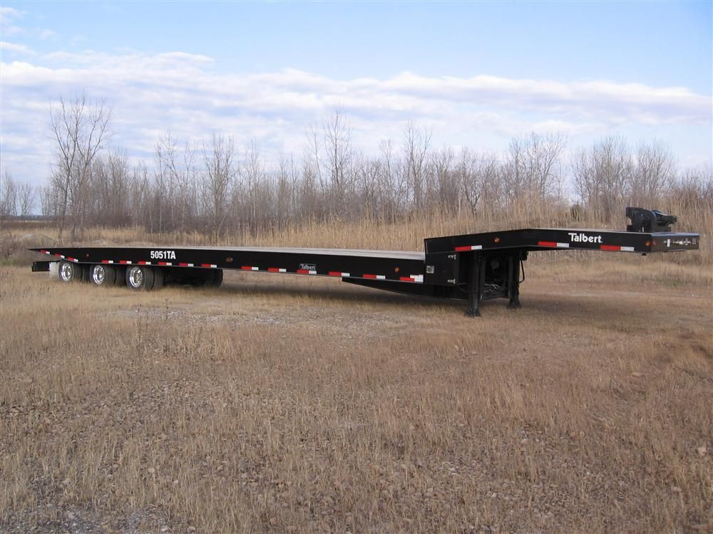 Talbert's 50 ton (45 t) 5051 traveling axle trailer has been designed for customers that need to comply with 43-ft. (13 m) kingpin laws and regulations.