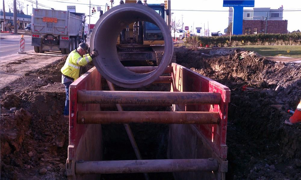 This 60-inch pipe is one of the larger 100-year design life pipes used for the storm drains, which will be monitored by 3 Rivers Pipe Profiling.