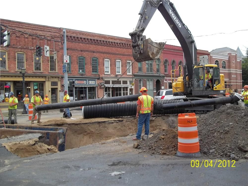 Waterline work is being performed on the U.S. Route 11 project in Canton, N.Y.