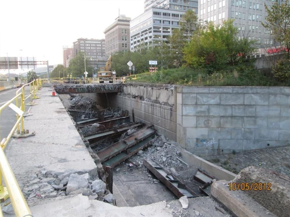 The Fancourt Bridge, originally built in 1930, was rated structurally deficient and functionally obsolete.
