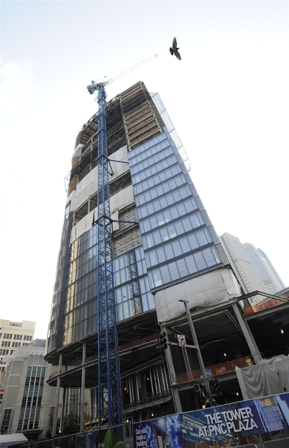 In downtown Pittsburgh, the greenest skyrise in the world, which towers 33 stories, is nearly complete.