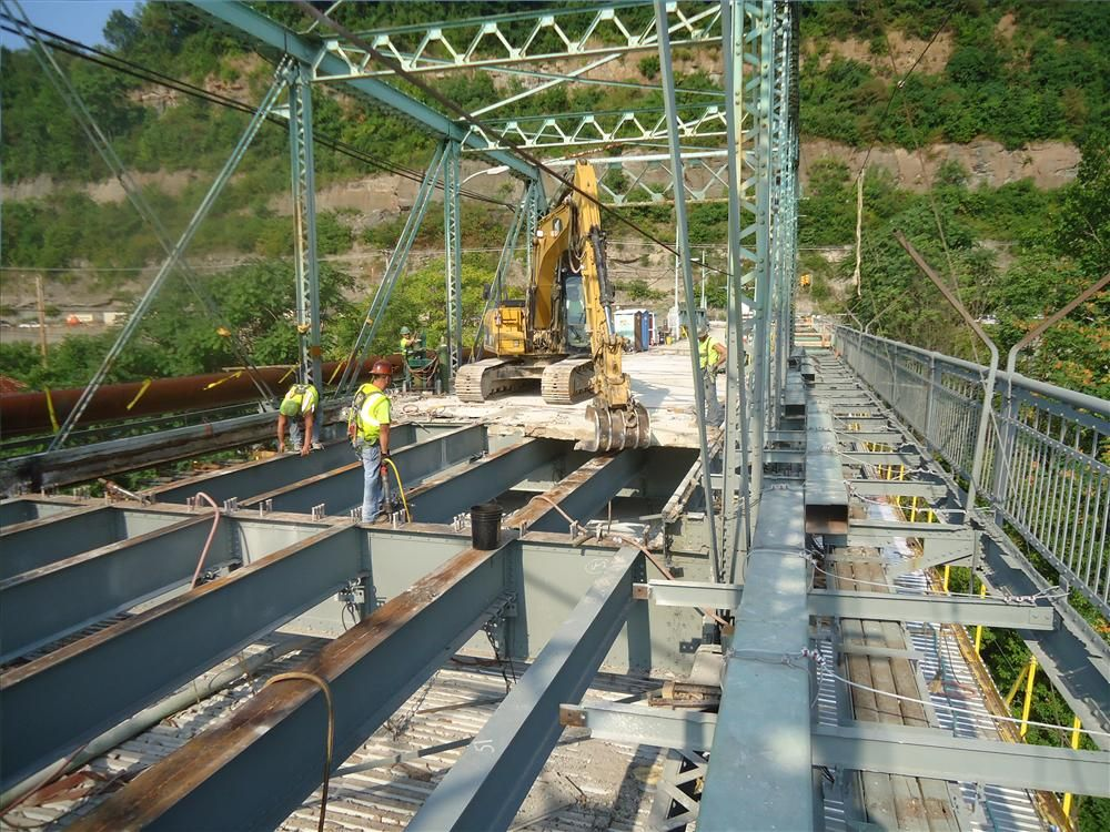 A $16.7 million rehabilitation project is currently under way for a 10-span cantilever through truss bridge in Beaver County, Pa.