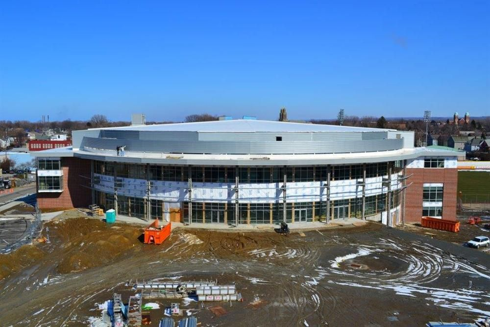Photo courtesy of the Erie Otters Hockey Club. Thirty years after it first opened in Erie, Pa., the Erie Insurance Arena (formerly the Louis J. Tullio Arena) is undergoing an extensive renovation and expansion.