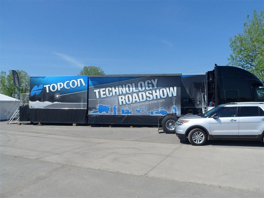 Topcon's Technology Roadshow trailer will make the rounds to more than 35 cities this summer.