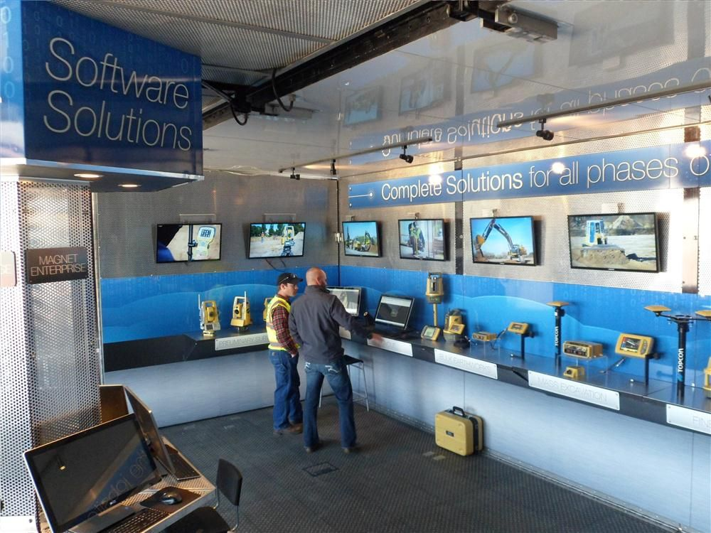 Attendees were able to see the latest technologies available from Topcon in the road show trailer.