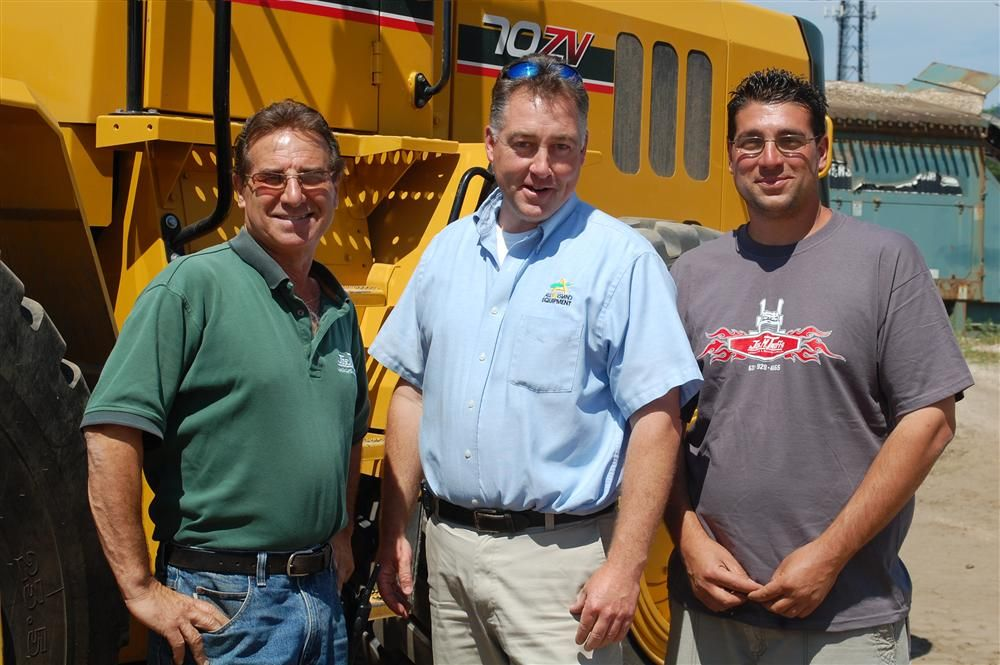 (L-R) are Joseph M. Troffa; Gary Wade, president of All Island Equipment; and Jon Troffa.