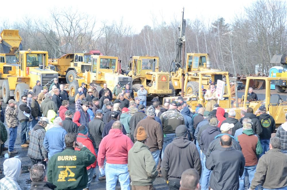 A great turnout marked Hunyady's auction in Laflin, Pa.