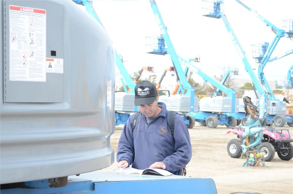 Richard Nevel, president of RN2 Incorporated  in Wisconsin, said he purchased a lot of equipment approximately five years ago and was looking to do the same at this Alex Lyon auction.