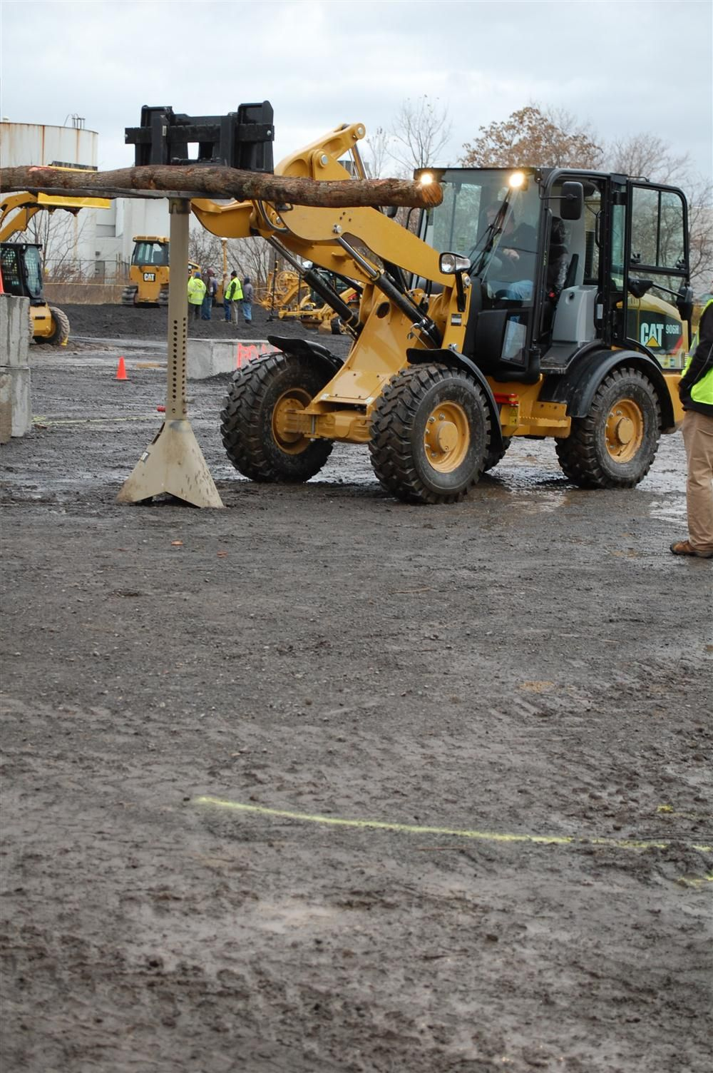 A complex obstacle course was set up to challenge the skills of any operator up to the test.