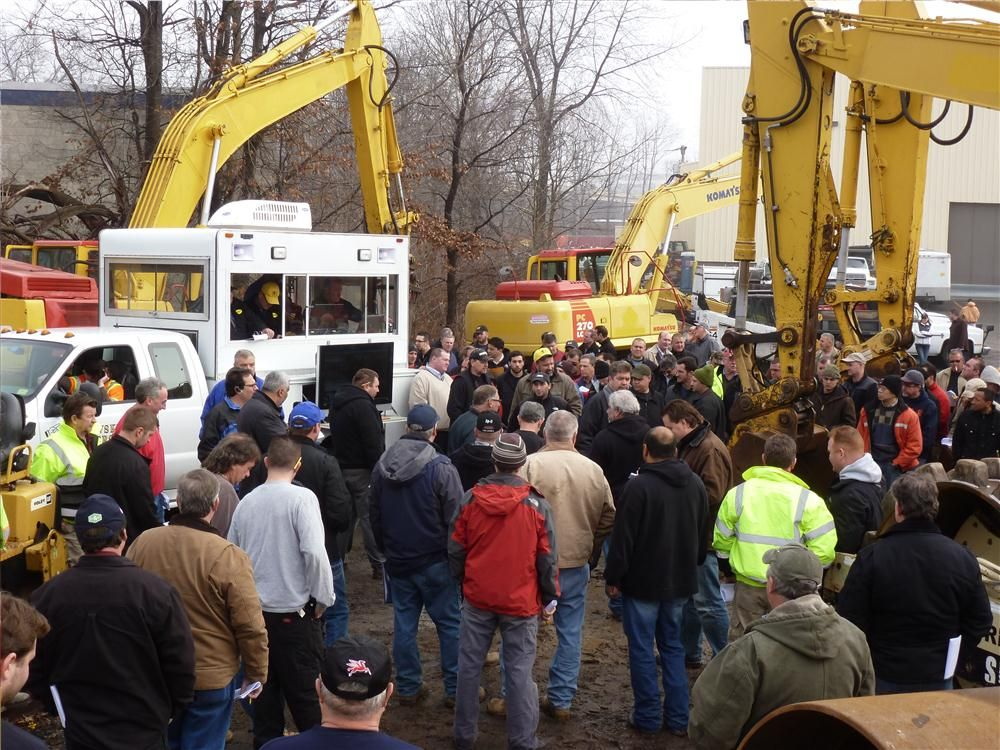 Petrowsky Auctioneers, North Franklin, Conn., recently conducted a public equipment auction for Joseph M. Sanzari Inc. The equipment auctioned off was from concurrent job completions and the sale was held at the company's Elmwood Park, N.J., locatio
