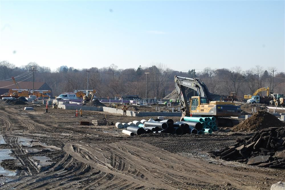 The overall I-95 southbound rest area job site.