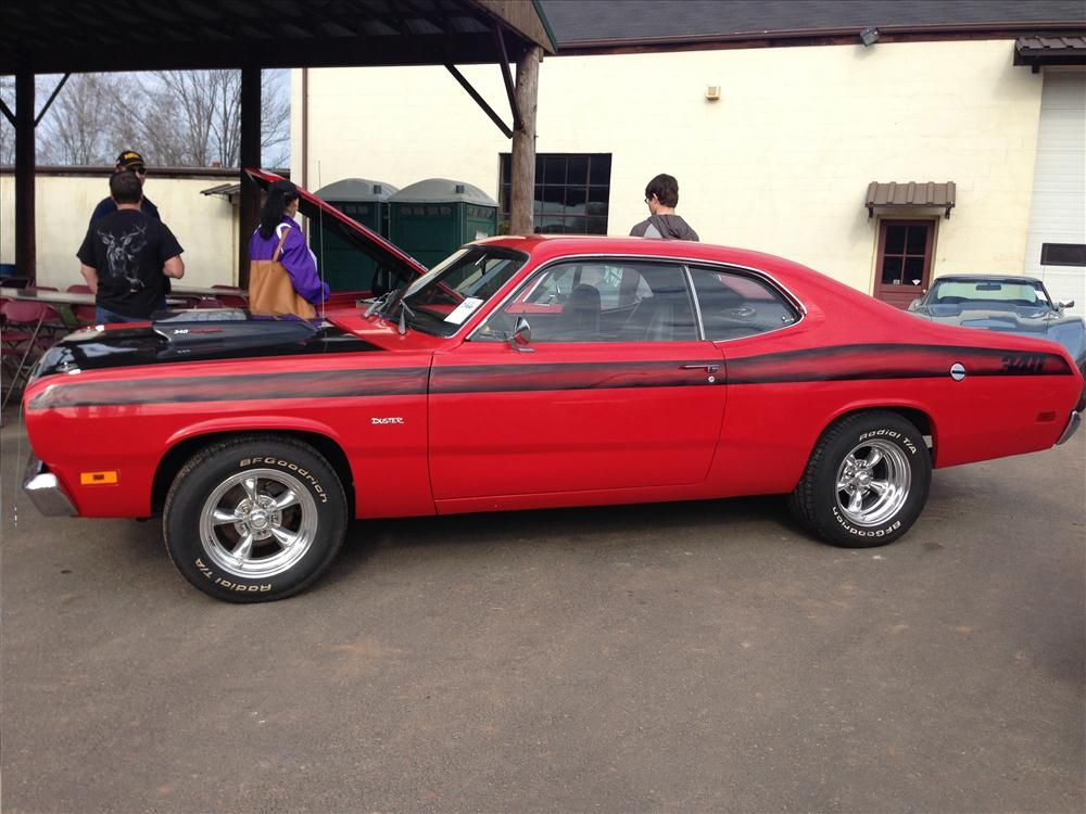 The auction featured a variety of classic cars including this 1971 Dodge Duster.
