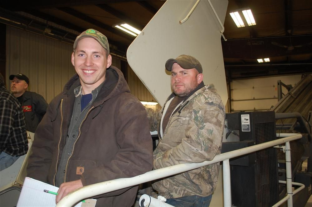 Bruce McDonald (L) and Russ Sanderson of R J McDonald attended the LT105 class.