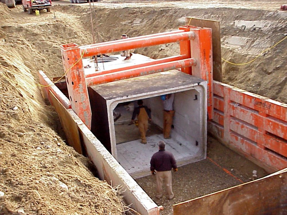 ADH Contracting Inc. works with Northeast Shoring LLC on tank installation at LeBaron Country Club in Lakeville, Mass.