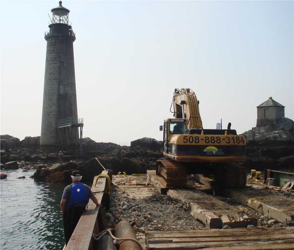 Emerald has dredged the Coast Guard's boat landing at Graves Light in Boston Harbor.