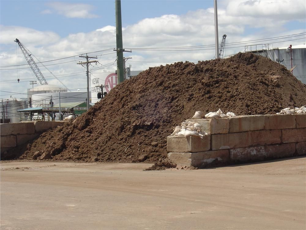 RED Technologies LLC is managing all of the materials from the Q-Bridge/I-95 project at its WSA yard (waste stockpiling area) at the Brewery Street site in New Haven, Conn. Any materials that are dug out of the Q-Bridge/I-95 project are brought to this pl