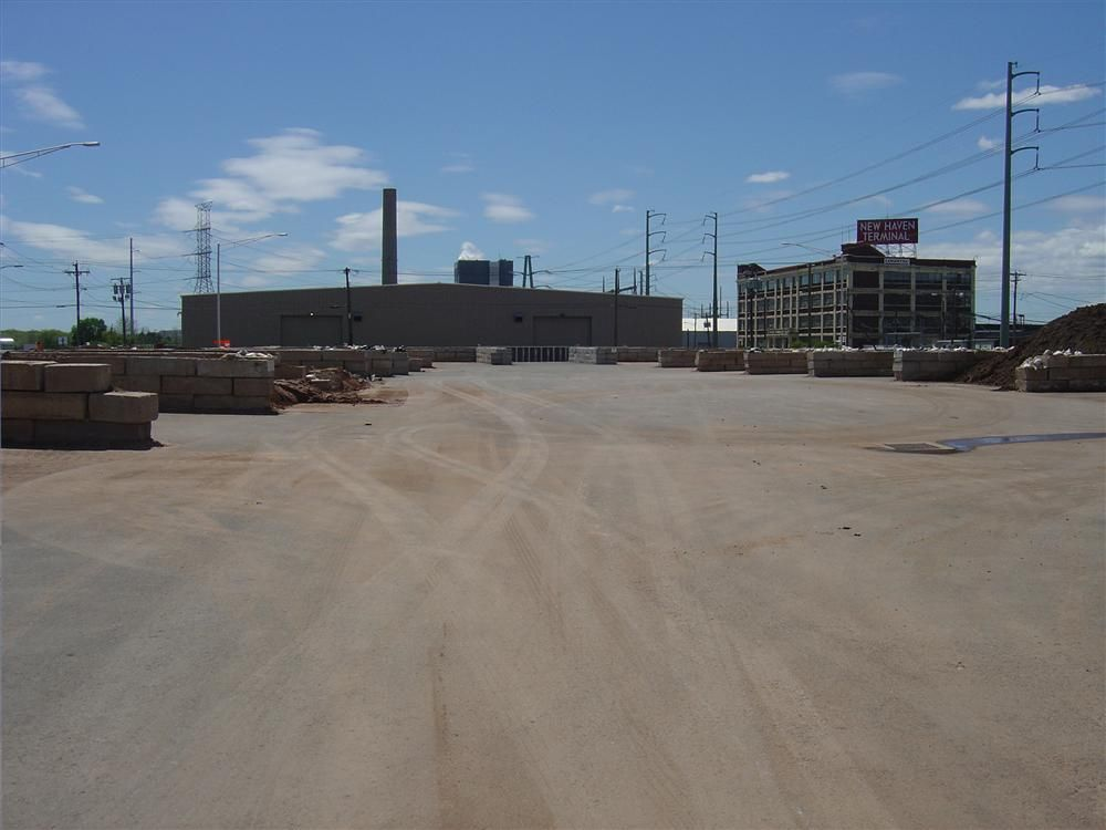 The waste stockpiling area at the Brewery Street site.