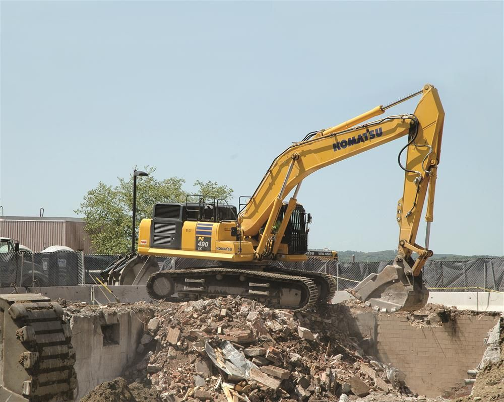 NASDI, a Waltham, Mass., demolition/deconstruction company, used a Tier IV Interim PC490LC-10 for a 2012 demolition project at St. Elizabeth Medical Center in Brighton, Mass. NASDI purchased this machine, along with several others, from C.N. Wood.