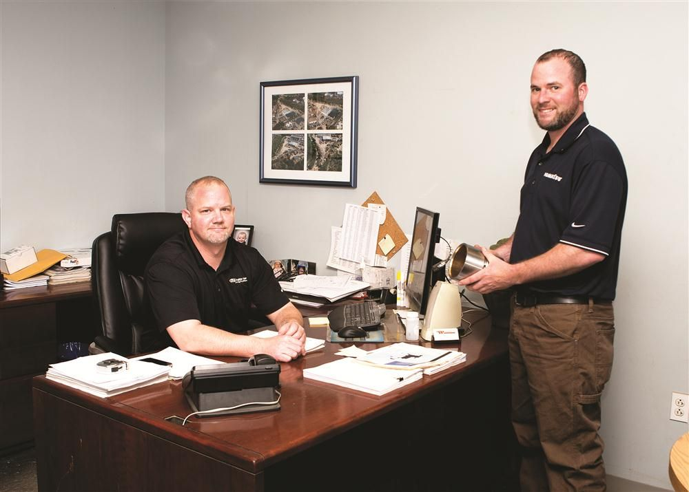 Service Manager-Construction Products Mark Whelan (L) and Assistant Service Manager Phil Hoffman provide product support for C.N. Wood customers.