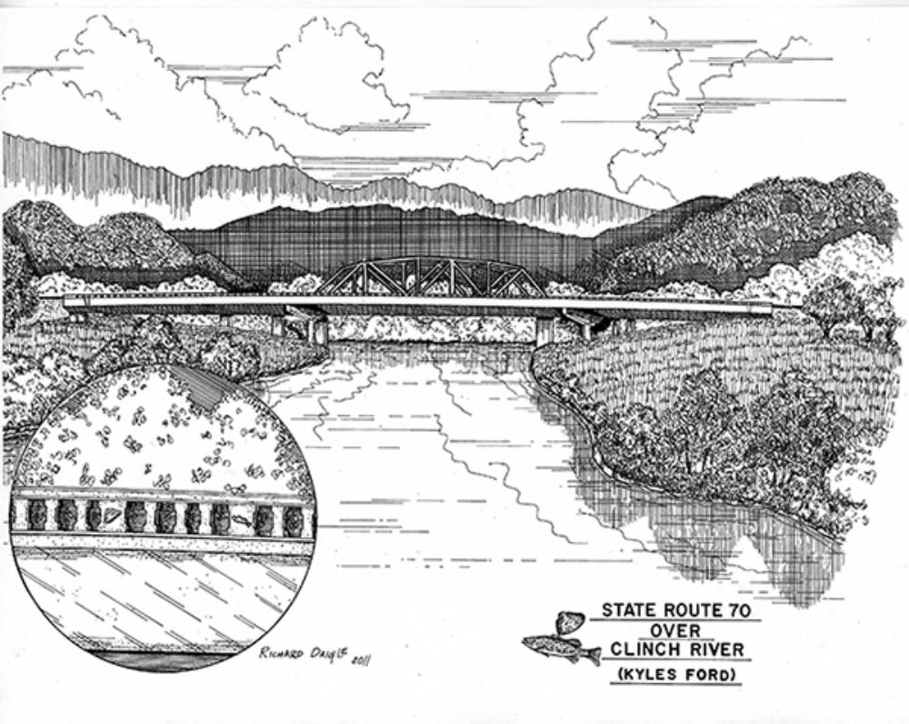Rendering of what old and new bridges will look like after completion of both projects.