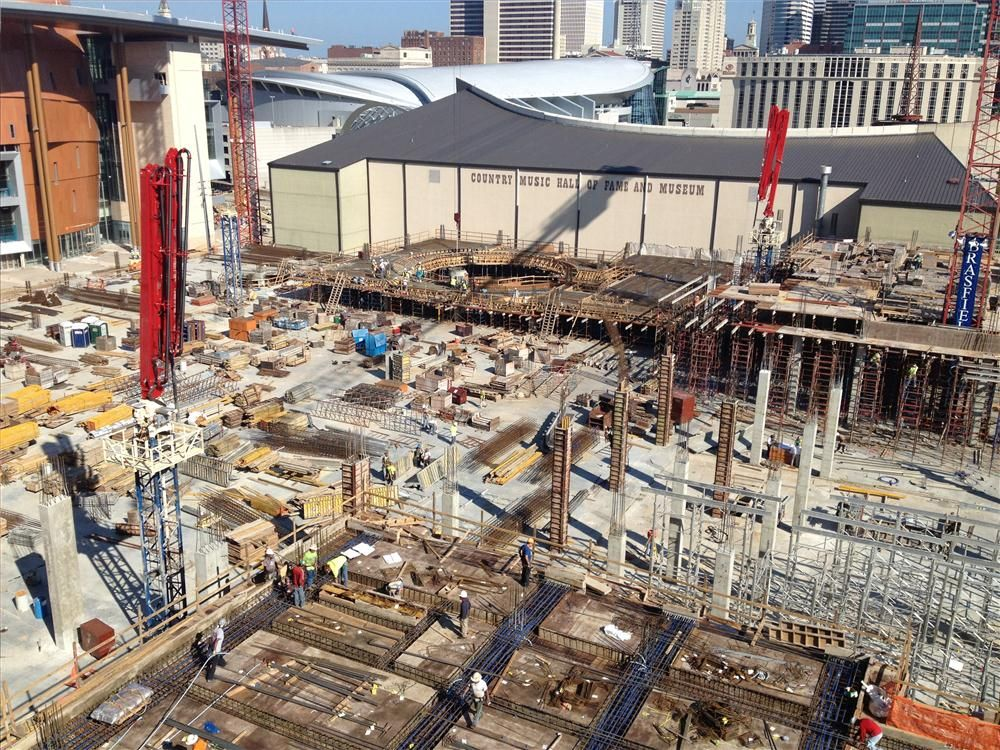 The Omni Nashville Hotel and Country Music Hall of Fame (CMHF) project cost approximately $250 million.
