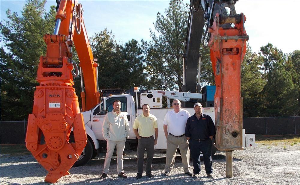 Current members of the DemoTrax staff include (L-R) Andrew Szafraniec, sales coordinator; Scott McGuigan, regional manager; Joe Burton, account manager; and Charlie Morgan, field service technician.