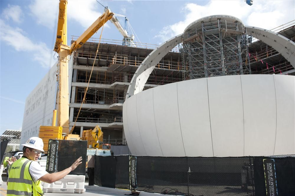 World Red Eye and Golden Dusk Photography photo Topping off of the planetarium is well on its way and the concrete for the Gulf Stream tank has been poured.