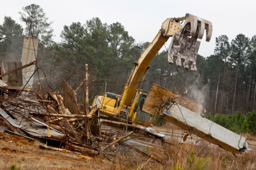 (Raftermen Photography) Demolition is currently under way at the future site of a $600 million mixed-use development in Alpharetta, Ga.
