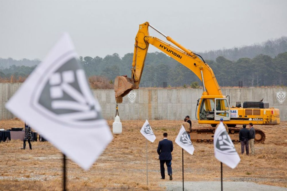 (Raftermen Photography) Groundbreaking  took place the final week of  January 2013. Avalon is located on 86 acres at the intersection of GA 400 and Old Milton Parkway.
