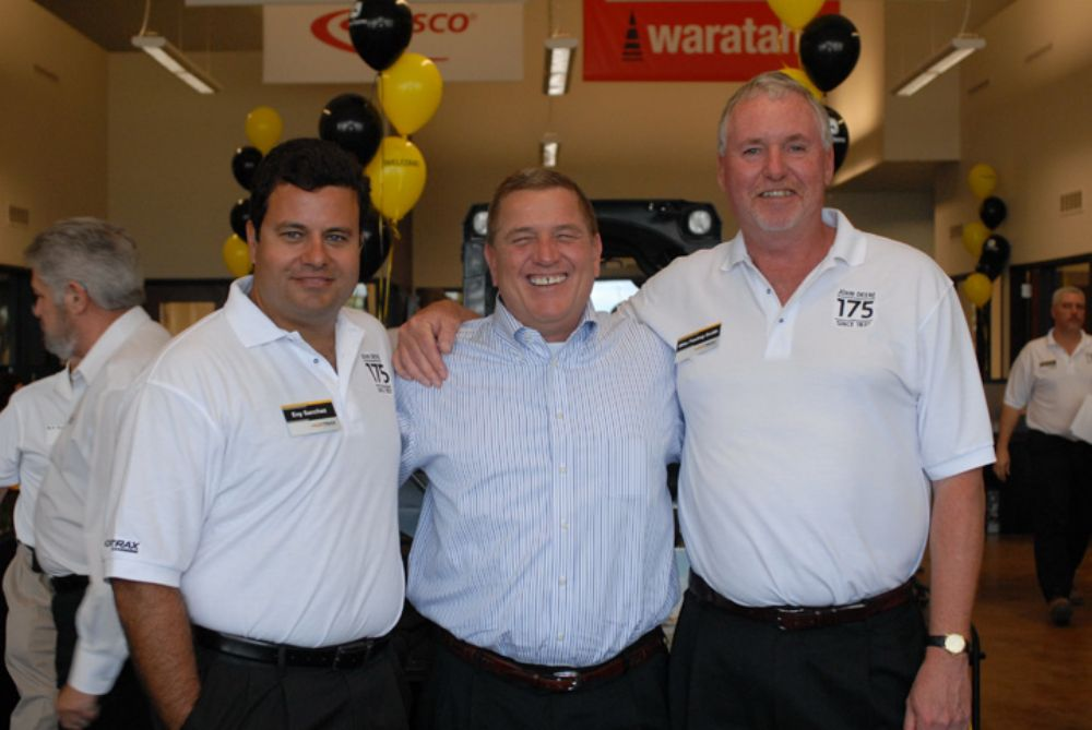 (L-R) are Eny Sanchez, Nortrax general manager, Nortrax Miami; Kevin Karlix, John Deere director sales, United States and Canada; and Mike Festing-Smith, Nortrax vice president.