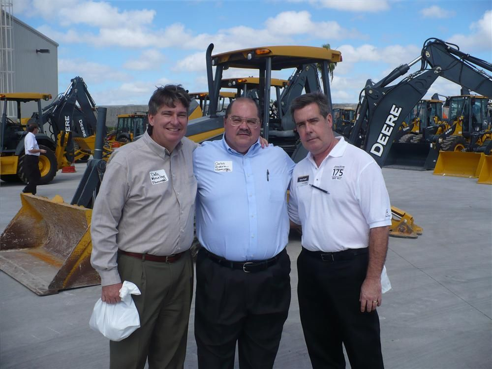 (L-R): Dale Moseley and Carlos Rivera of Flamingo Oil enjoying the afternoon with Angel Sosa of Nortrax.