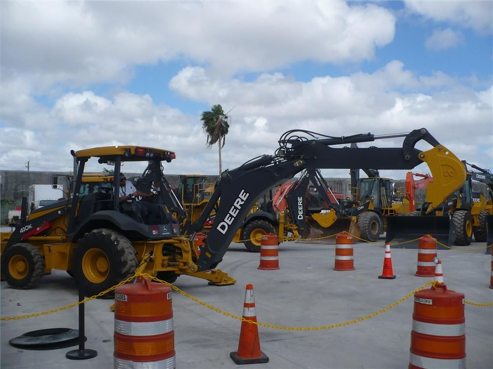 Operators displayed their skills in the backhoe challenge.