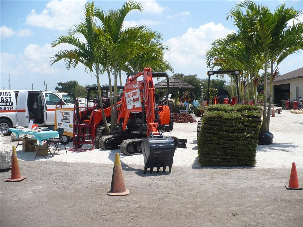 The SVL90 track loader, KX71 excavator and an R520S loader on display at the Florida Coast Equipment open house.