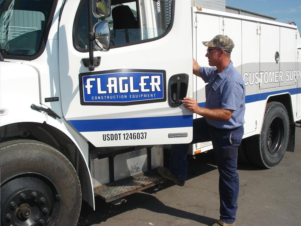 Gene Malouff, service technician, heads out to help a customer.