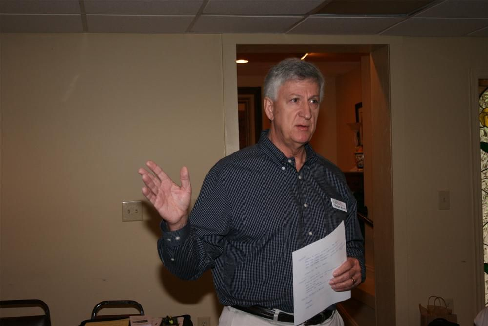 GUCA member Ralph Byrd, Utility Business Services, fields questions during the GUCA North Georgia Industry Meeting.