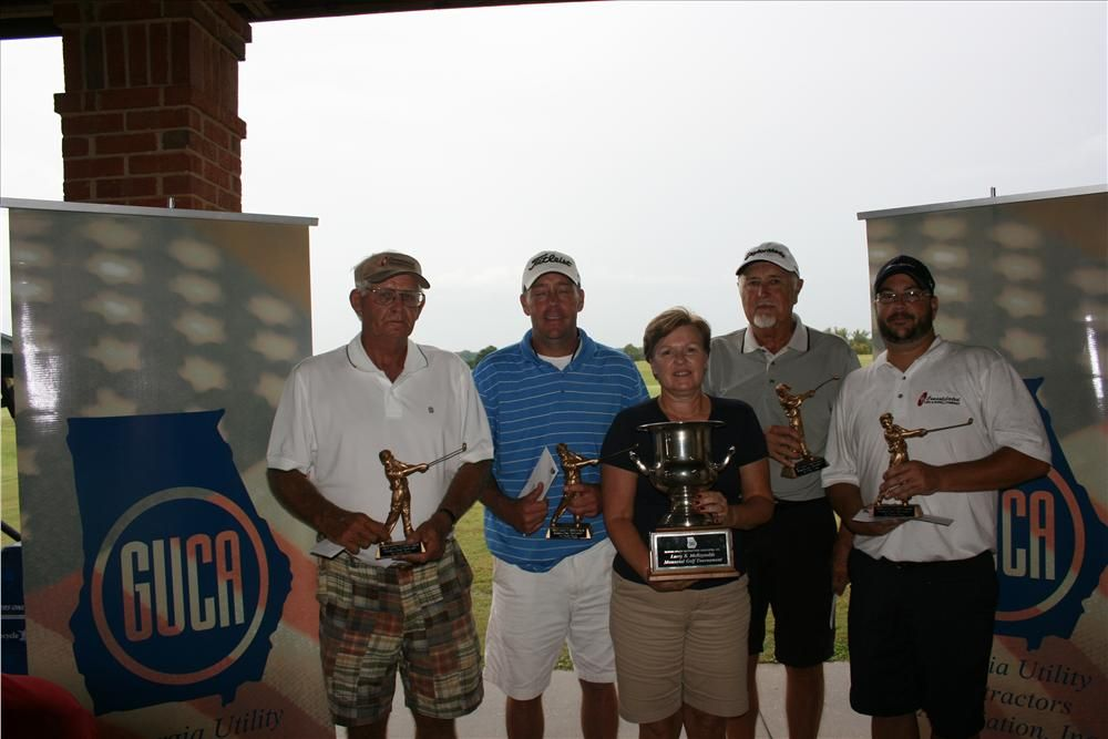 Team Crawford & Grading Pipeline Inc. takes home the Overall 1st Place Winning Team Trophy at the 2012 GUCA Larry S. McReynolds Memorial Golf Tournament presented by GUCA President Angela Lance., Peed Bros Inc.