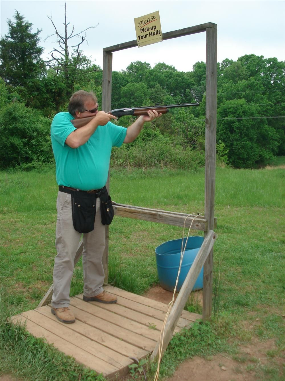 Paul Ware of Martin Marietta Materials took perfect aim and blasted both clays.