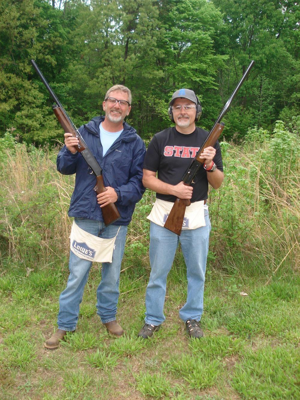 Marty (L) and Jeff Greene, both of KRG Utility in Lenoir, N.C., use Browning 12 gauge shotguns.