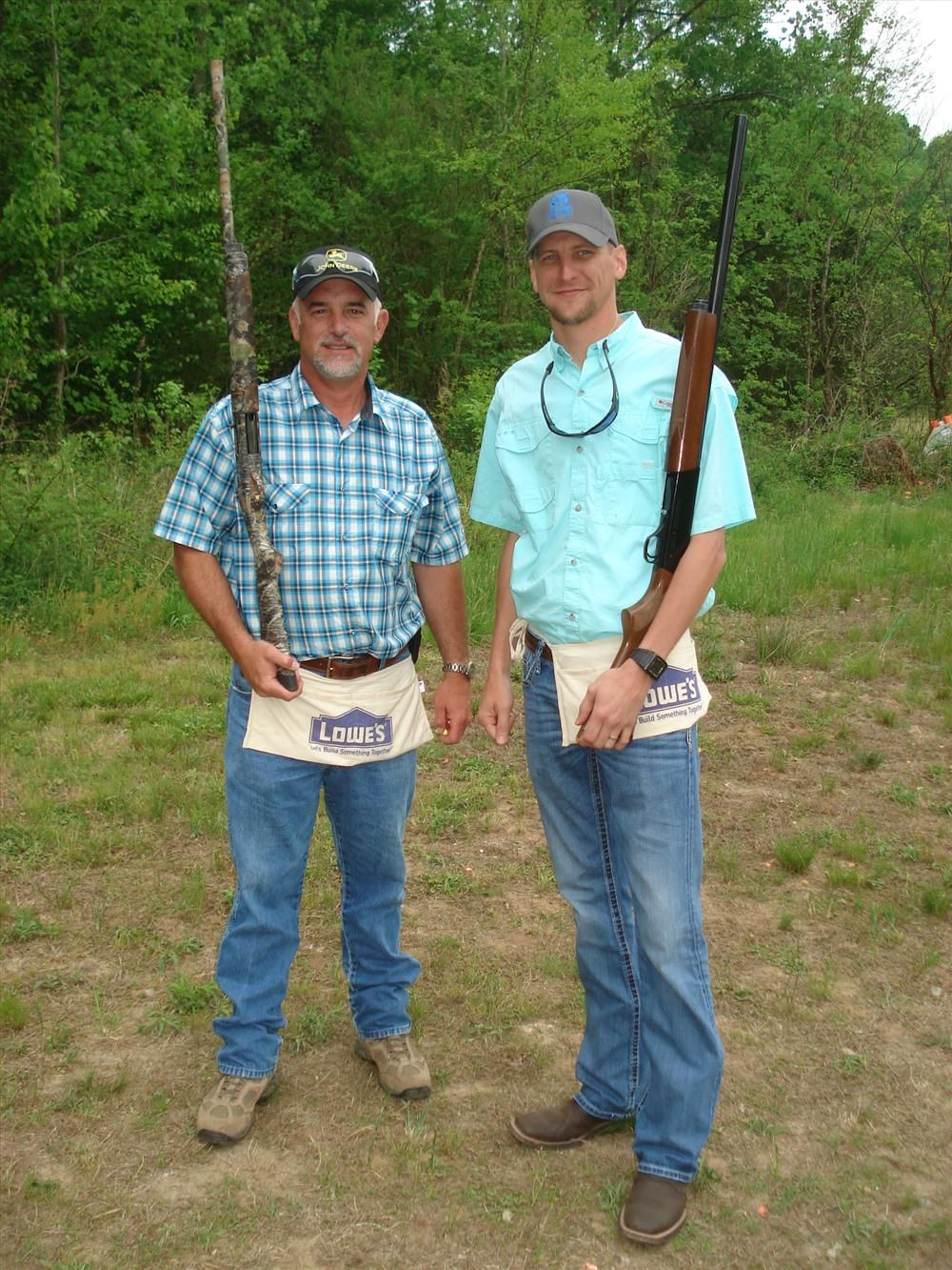 Judge Avery (L) and Damien Hollifield, both of Young & McQueen Grading Inc. in Burnsville, N.C., enjoy the day.
