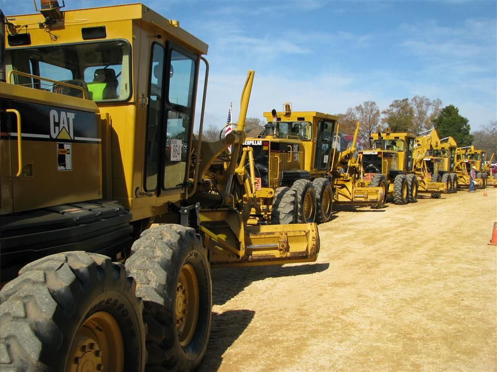 A half-dozen Cat 140 H motorgraders packed the ramp and made for some competitive bidding.
