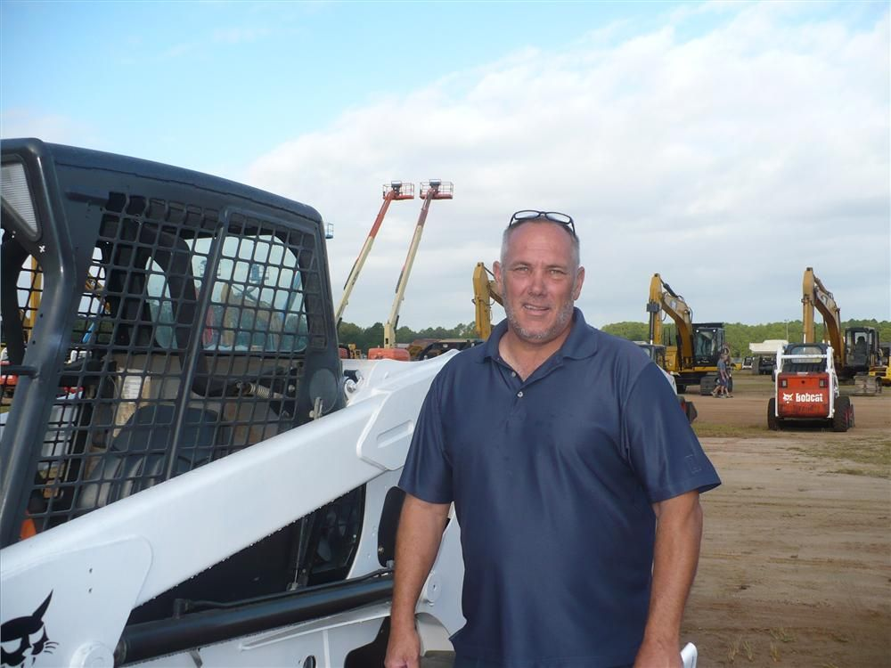 Cory Miller, M&P Equipment, Orlando, Fla., is hoping to take home a couple of Bobcat loaders.