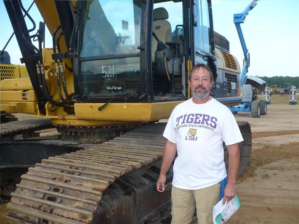 Mark Trahan, Denmar Equipment, Sulphur, La., thought this Cat 330DL might be a good machine to take home.